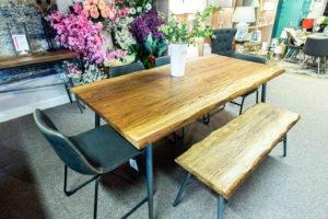 wooden, oak, modern, bench, table, dining room, kitchen, furniture Navan, Irleand