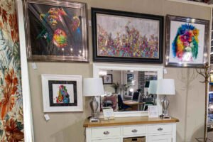 mirror, picture frame, art., white, gold, black, colours, animal, lion, rainbow, furniture, Navan, Ireland