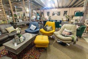 chair, armchair, footstool, fabric, leather, soft, comfortable, modern, coffe table, fillow, navy, grey, yellow, modern, furniture, Navan, Ireland