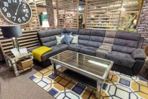 sofa, corner, soft, fabric, leather, Ireland, furniture, Navan, sitting room, living room, glass table, coffee table