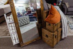 chest, blanket, storage, pilllow, mirror, large, gold, frame, furniture, Ireland, Navan