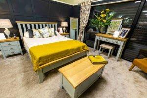 Bedroom, furniture, Ireland, Navan, Wardrobe, chest of drawers, bench, storage, bedside locker, bed frame, wooden, grey, mirror, standing, lamps, pillow, lamp