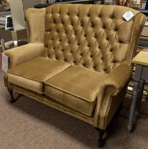 Queen Anne, chair, 2 seater, fabric, leather, furniture, Ireland, Navan, soft, comfortable, elegant, stylish,