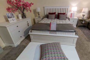 white bedroom, mattress, bed, frame, bedside locker, storage, chest of drawers, furniture, Ireland, Navan