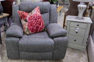 armchair,pillow, pink flower, fabric, soft, comfortable, leather, furniture, Navan, Ireland