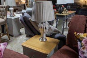 Lamp, home , decoration, Ireland, Navan, Furniture, silver, white, glass