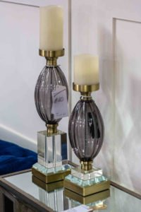 candle holder, glass, large, cristal, furniture, Ireland, Navan