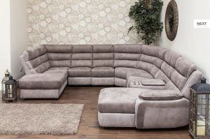 Modular furniture, living room furniture Ireland sofa corner leather fabric